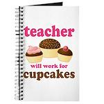 Funny Cupcake Teacher Journal