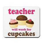 Funny Cupcake Teacher Mousepad