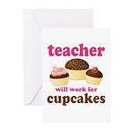 Funny Cupcake Teacher Greeting Cards (Pk of 20)