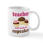 Funny Cupcake Teacher Mug