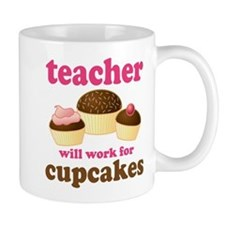Funny Cupcake Teacher Mug