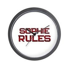 sophie rules Wall Clock