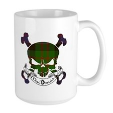 MacDonald Tartan Skull Mug