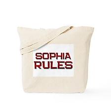 sophia rules Tote Bag