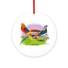 Pheasant Trio Ornament (Round)