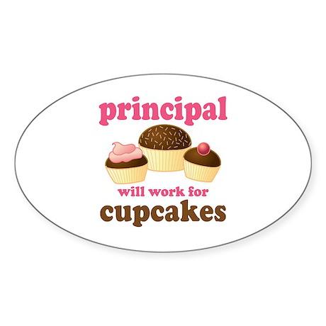 Funny Principal Oval Sticker