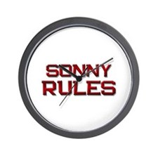 sonny rules Wall Clock