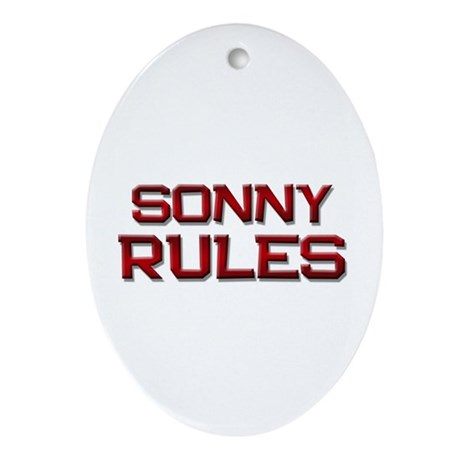 sonny rules Oval Ornament