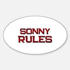 sonny rules Oval Decal