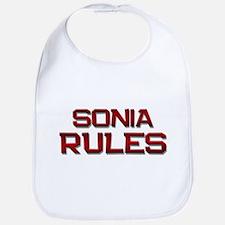 sonia rules Bib