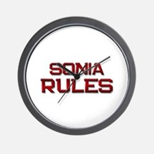 sonia rules Wall Clock
