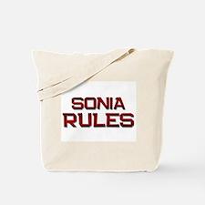 sonia rules Tote Bag