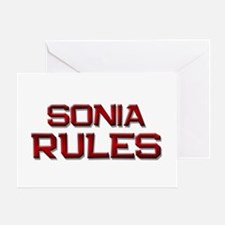 sonia rules Greeting Card