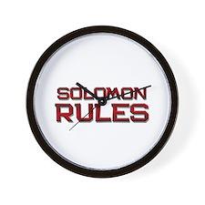 solomon rules Wall Clock