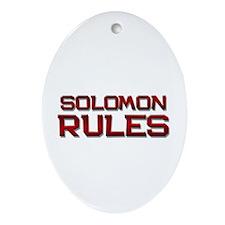 solomon rules Oval Ornament
