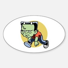 Frankenkid Oval Decal