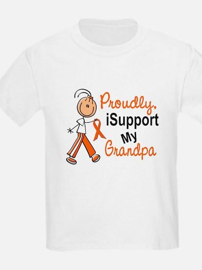 iSupport My Grandpa SFT Orange T-Shirt