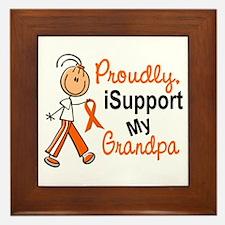 iSupport My Grandpa SFT Orange Framed Tile