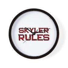 skyler rules Wall Clock