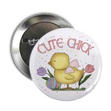 "Cute Chick 2.25"" Button"
