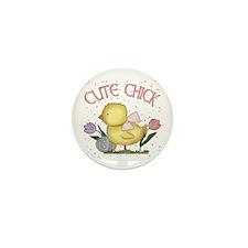 Cute Chick Mini Button (10 pack)