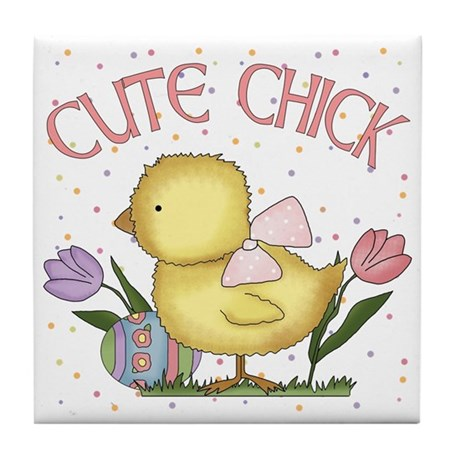 Cute Chick Tile Coaster