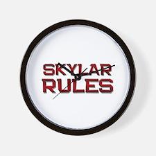 skylar rules Wall Clock