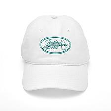 Tomahawk boat aqua logo Baseball Cap