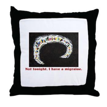 Migraine Aura Throw Pillow