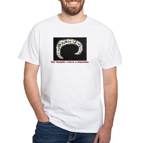 Migraine Aura White T-Shirt