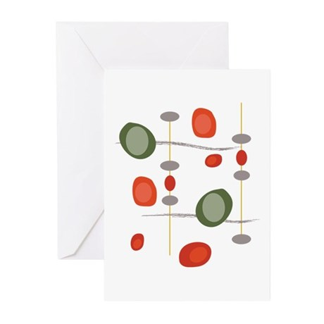 NeoJazz Vermilion All Occasion Cards - 10 Pack
