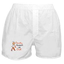 iSupport My Aunt SFT Orange Boxer Shorts