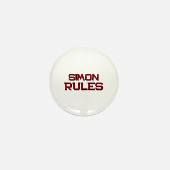 simon rules Mini Button