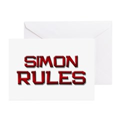simon rules Greeting Cards (Pk of 20)
