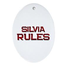 silvia rules Oval Ornament