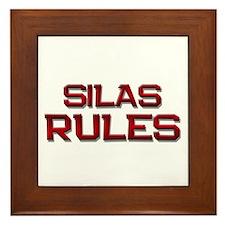 silas rules Framed Tile