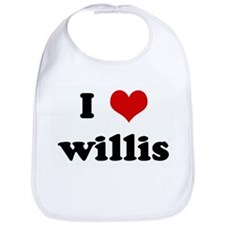 I Love willis Bib