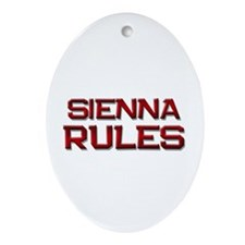 sienna rules Oval Ornament