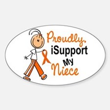 iSupport My Niece SFT Orange Oval Decal