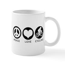 Peace Love Cycling (Female) Mug