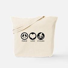 Peace Love Cycling (Female) Tote Bag