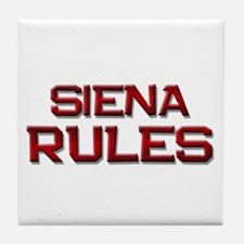 siena rules Tile Coaster