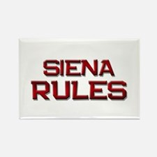 siena rules Rectangle Magnet