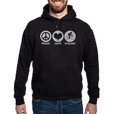 Peace Love Cycling (Male) Hoodie
