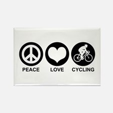 Peace Love Cycling (Male) Rectangle Magnet