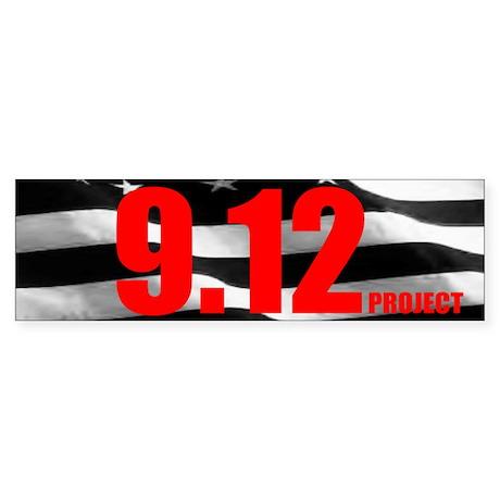 """""""The 9.12 Project"""" Bumper Sticker"""