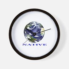 Earth Native Wall Clock