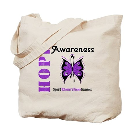 Alzheimer'sDisease Butterfly Tote Bag