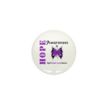 Alzheimer'sDisease Butterfly Mini Button (100 pack