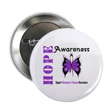 "Alzheimer'sDisease Butterfly 2.25"" Button"